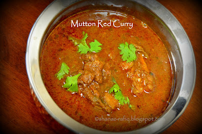 Mutton Red Curry ~ Mutton Coconut Curry ~ Mangalorean Mutton Curry