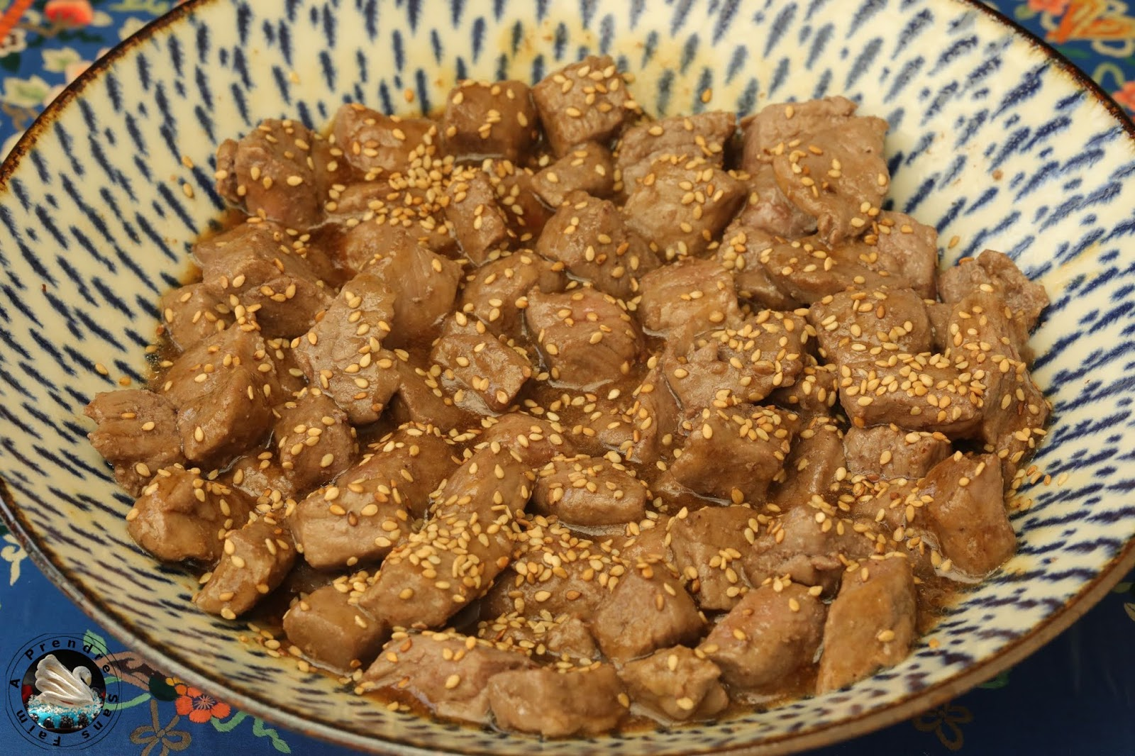 Bœuf teriyaki aux sésames