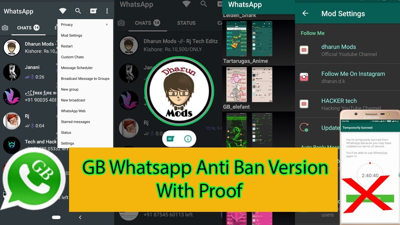 GBWhatsApp Anti Ban mod version