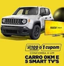 Promoção Master Magazine Natal 2018 Premiado - Jeep Renegade e 5 Smart Tvs