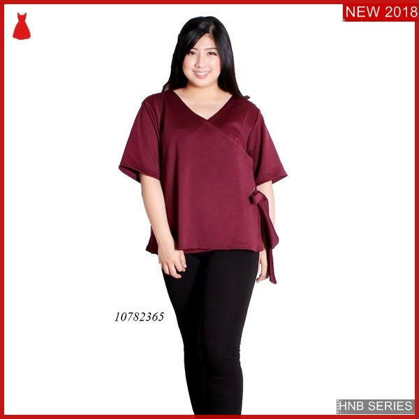 HNB225 Model Terusan Dress Batik Ukuran Besar Jumbo BMG Shop