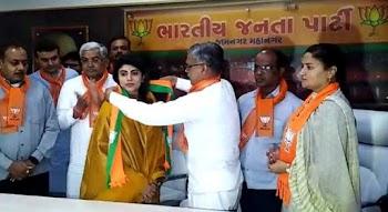 Rivaba Jadeja, wife of cricketer Ravindra Jadeja, joins BJP in Gujarat