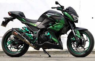 Modification Kawasaki Z250 Green Color