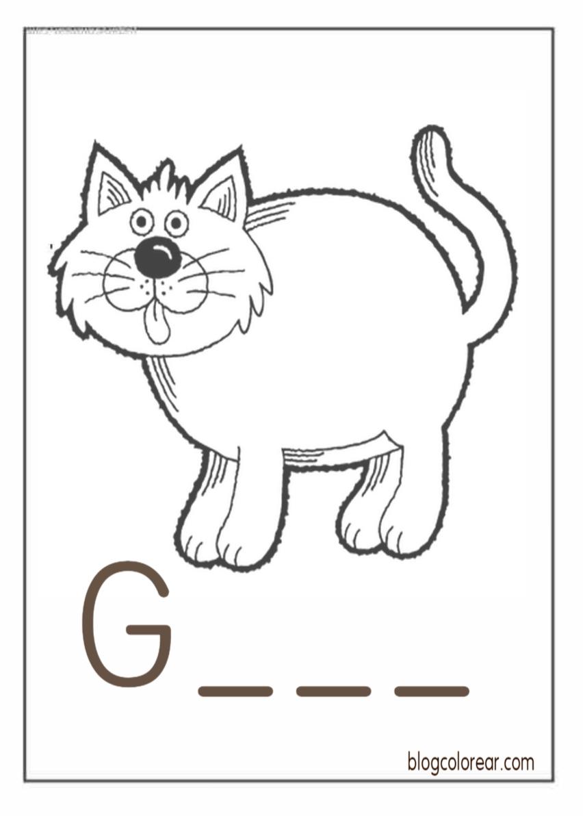 Gatos Y Gatitos Para Colorear Colorear Dibujos Infantiles