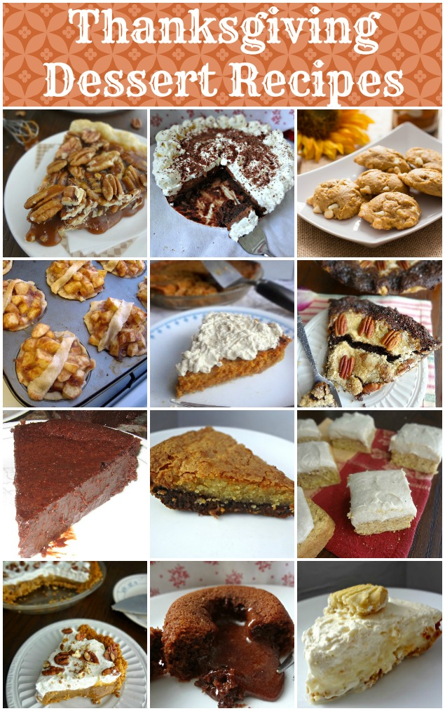 Thanksgiving Dessert Recipes Round Up
