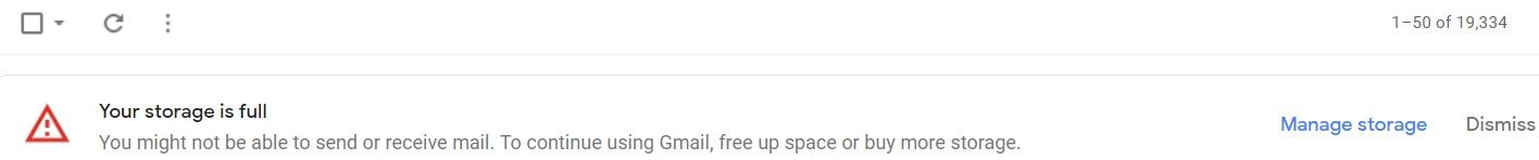 clear gmail storage