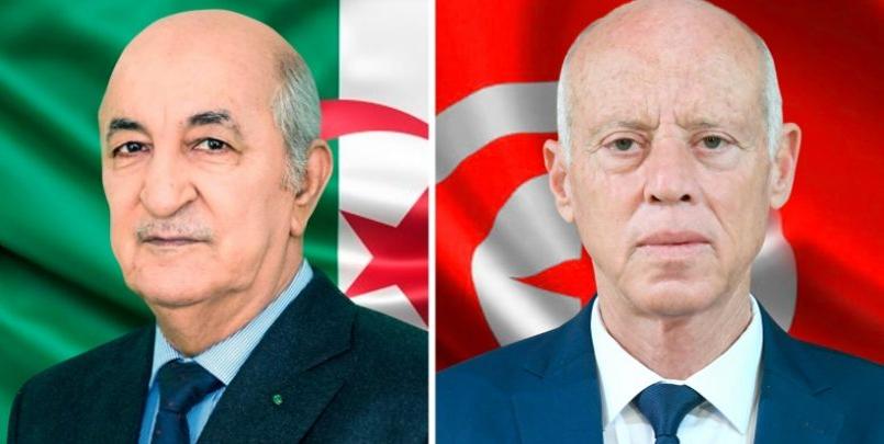 الرئيس تبون و قيس سعيد رئيس تونس
