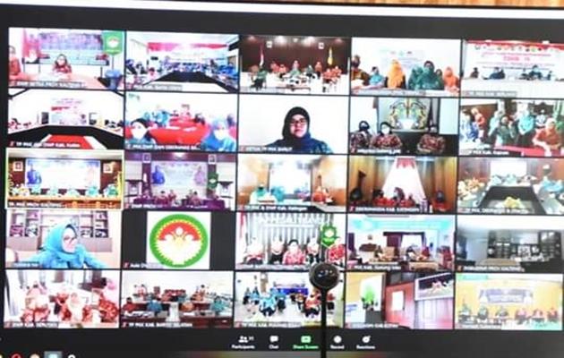TP PKK Barut Ikuti Acara Halal BiHalal Idul Fitri 1441 H Secara Virtual