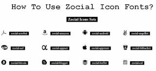 7) كيف تستخدم ايقونات ال zocial في مدونتك