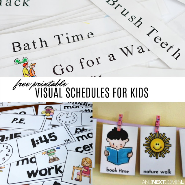 Sweet image within printable visual schedule