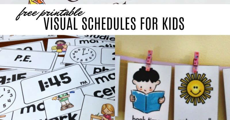 photo regarding Printable Visual Schedule Pictures identified as Free of charge Visible Agenda Printables towards Guidance Youngsters with Every day