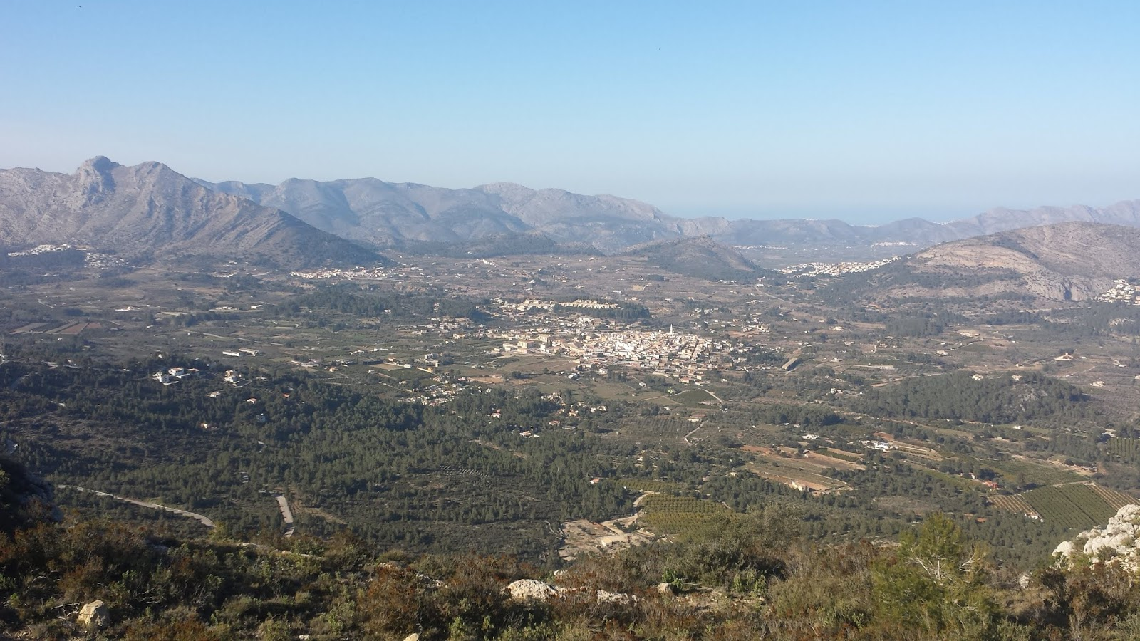 The village of Parcent from Coll de Rates