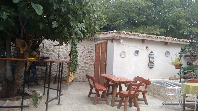 Nuevo Baztán. Terraza restaurante