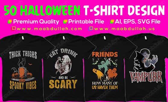 Halloween t-shirt design bundle
