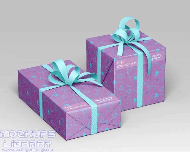 gift boxes mockup