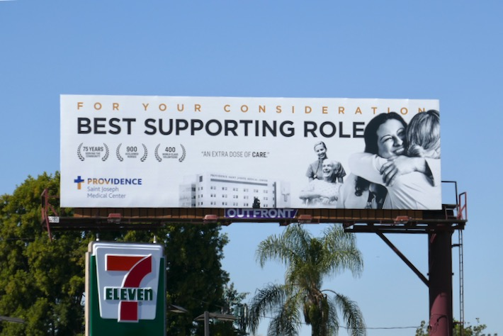 For consideration Best supporting role Providence billboard