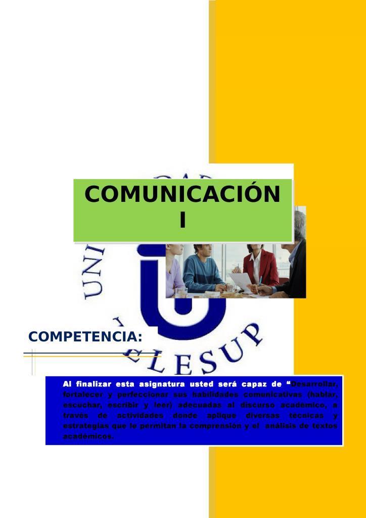 Comunicación I – TELESUP