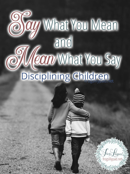 Say What You Mean and Mean What You Say 4 Things to Ponder When Disciplining Your Children #parenting #discipline #children