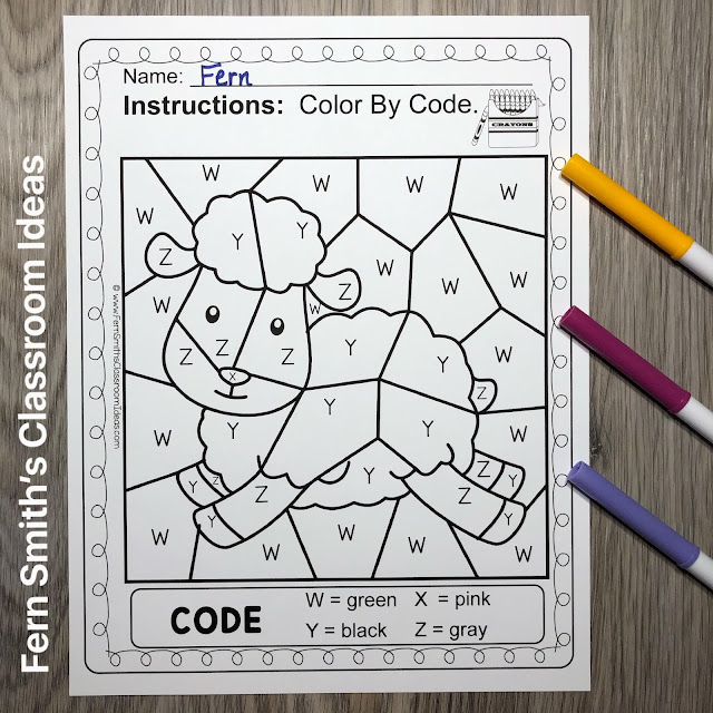 Click Here to Download This Terrific Color By Code Remediation Know Your Alphabet With a Baa Baa Black Sheep Theme Worksheets Resource For Your Classroom Use Today!