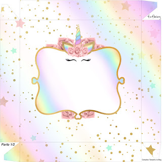 Unicorn and Rainbow: Free Printable Boxes.