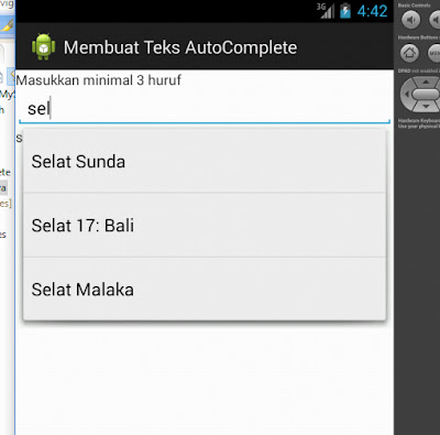 Tutorial Android 5 - Membuat TEKS AUTOCOMPLETE