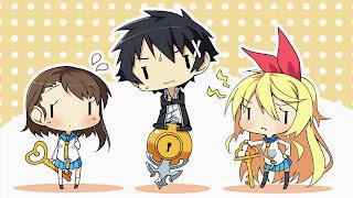 Tapeta Full HD z Raku Ichijou, Kosaki Onodera oraz Chitoge Kirisaki