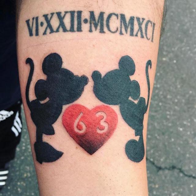 Tatuagens clássicas do Mickey Mouse