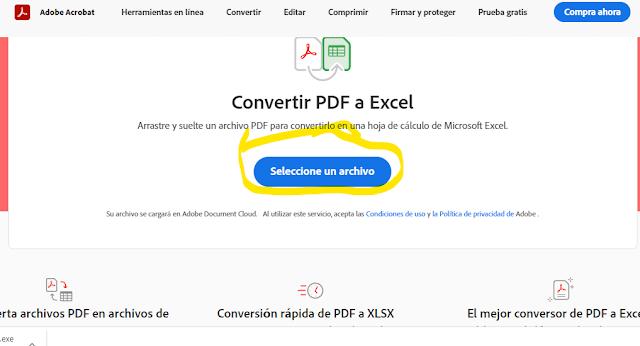 ACROBAT COMBERTIDOR DE PDF EN LINEA