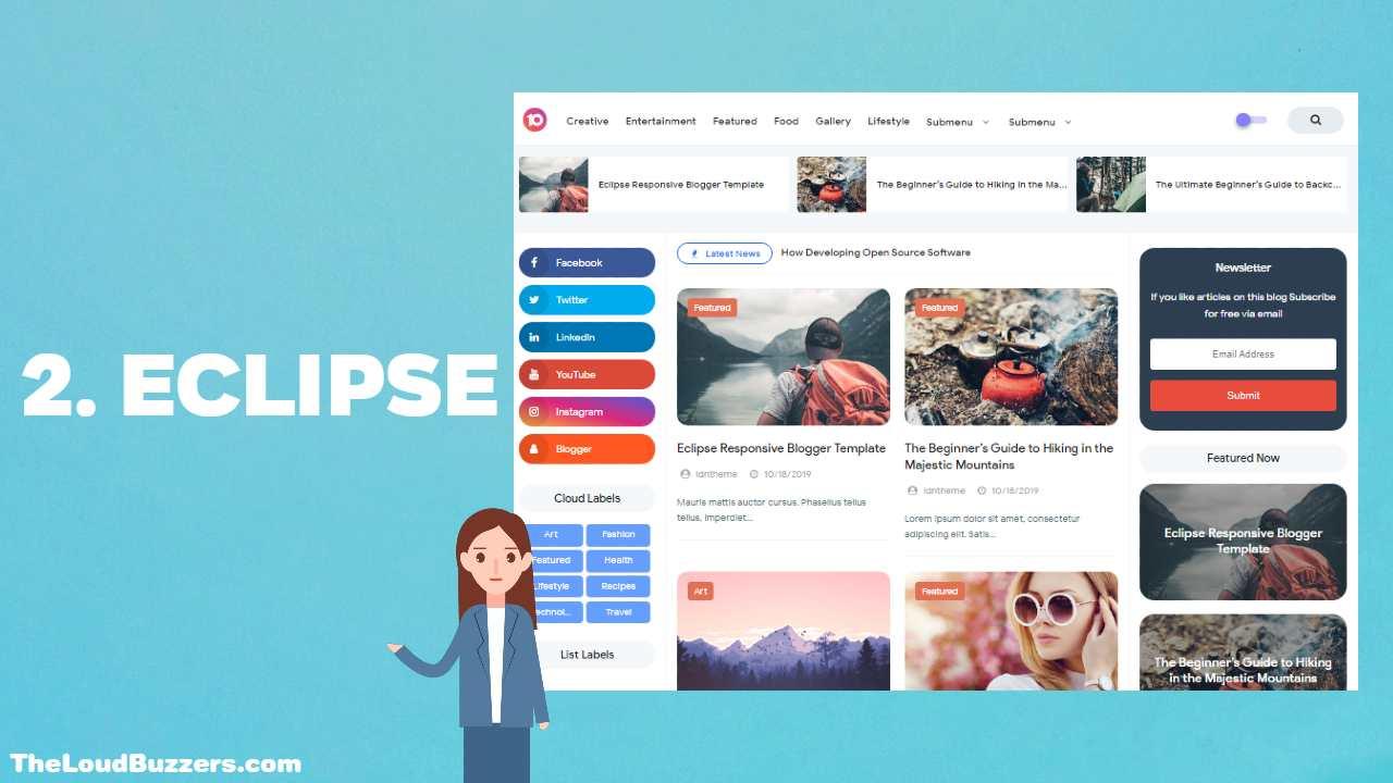 Eclipse Blogger Template