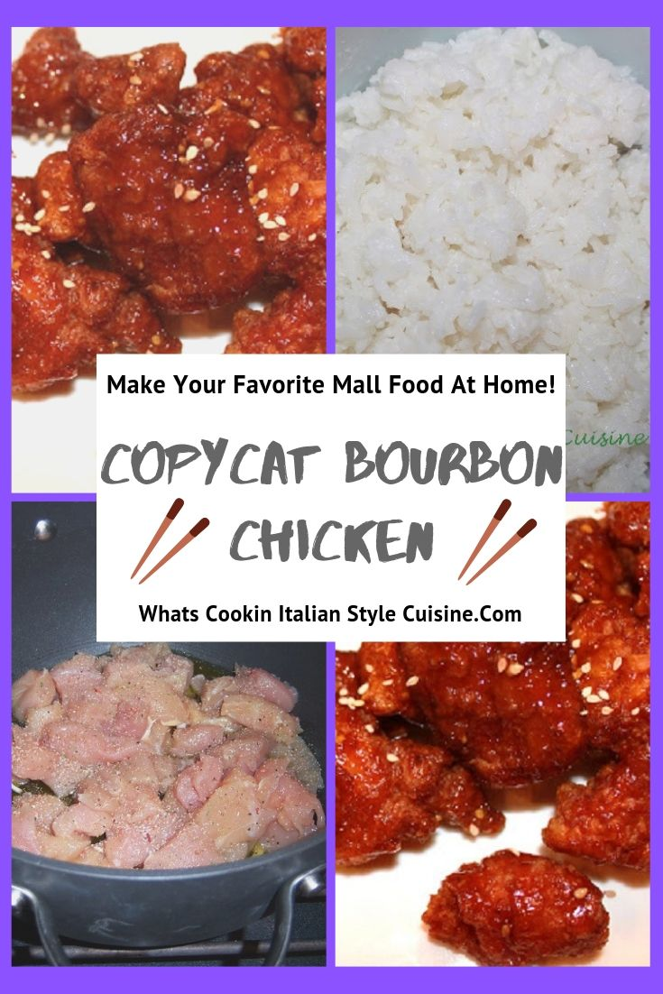 this is a pin for the recipe copycat Bourbon Chicken recipe