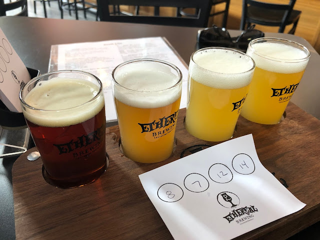 Beer tasting at Ethereal Brewing Company in the Distillery District Lexington, Kentucky