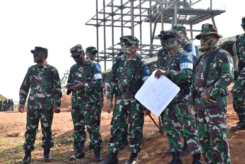 Dankodiklatad Tinjau Latihan Tempur  Batalyon Infanteri Raider 301/Prabu Kian Santang