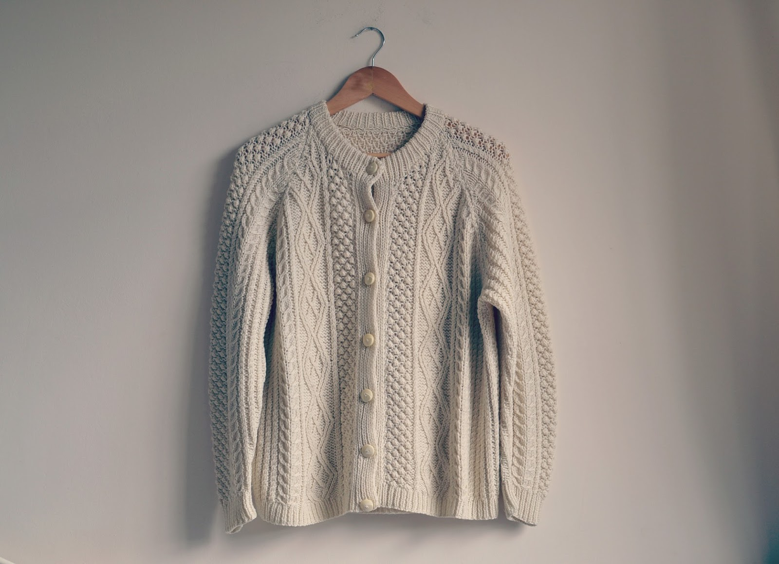 Vintage knitted cardigan Bristol Textile Recyclers