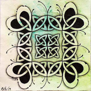 Square one week July 26 with Double Double mixed with Celtic Knots