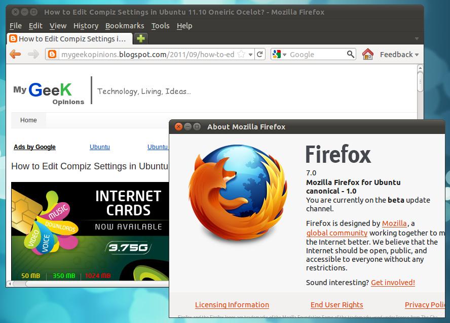 How to Install Firefox 7 in Ubuntu 10 10 Maverick Meerkat