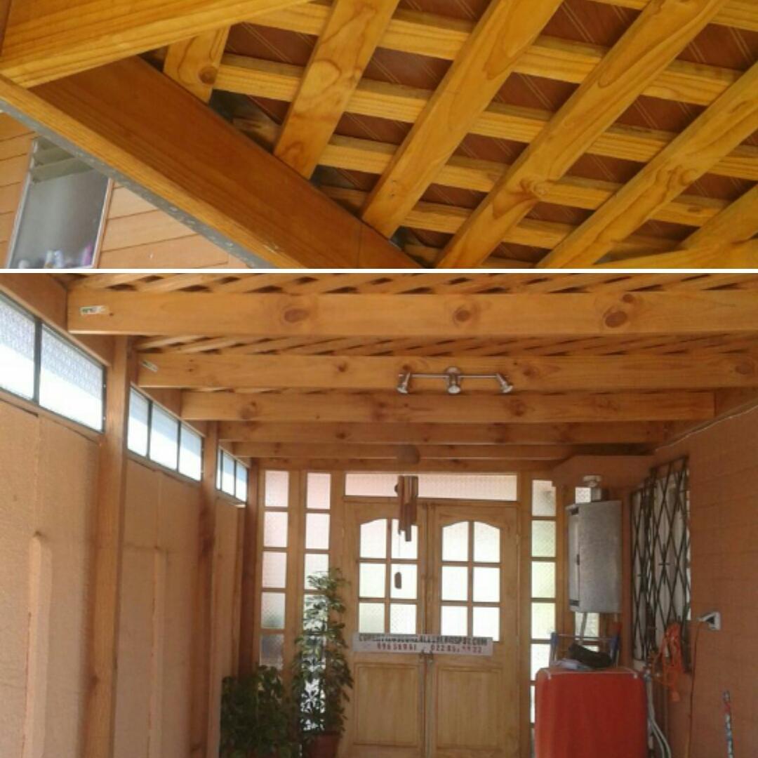 Cobertizos de madera artesanales for Casas con cobertizos