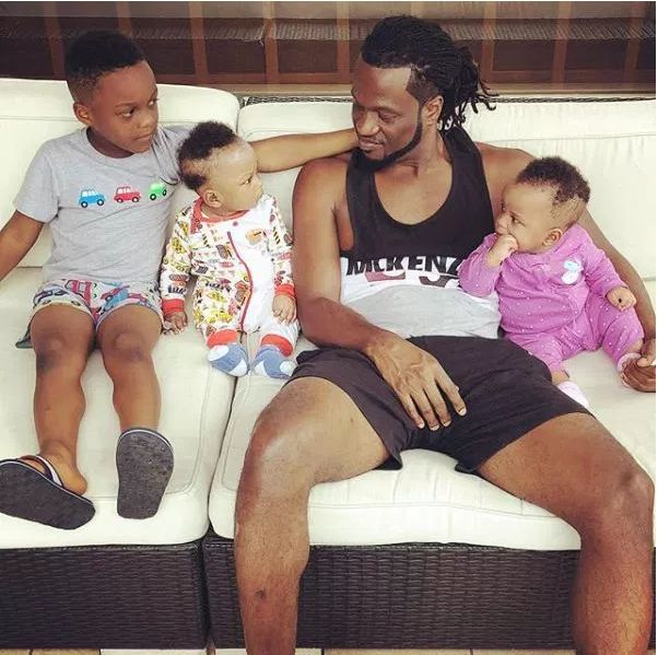 Recently Paul Okoye Posts Cute Family Photo With His Twins And Son.