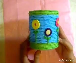 Decorate Used Milk Cans Into Beautiful Pencil Cases