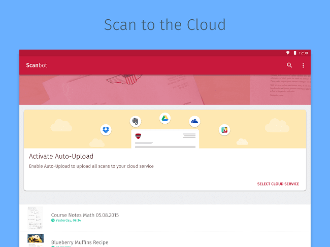 Scan to the cloud