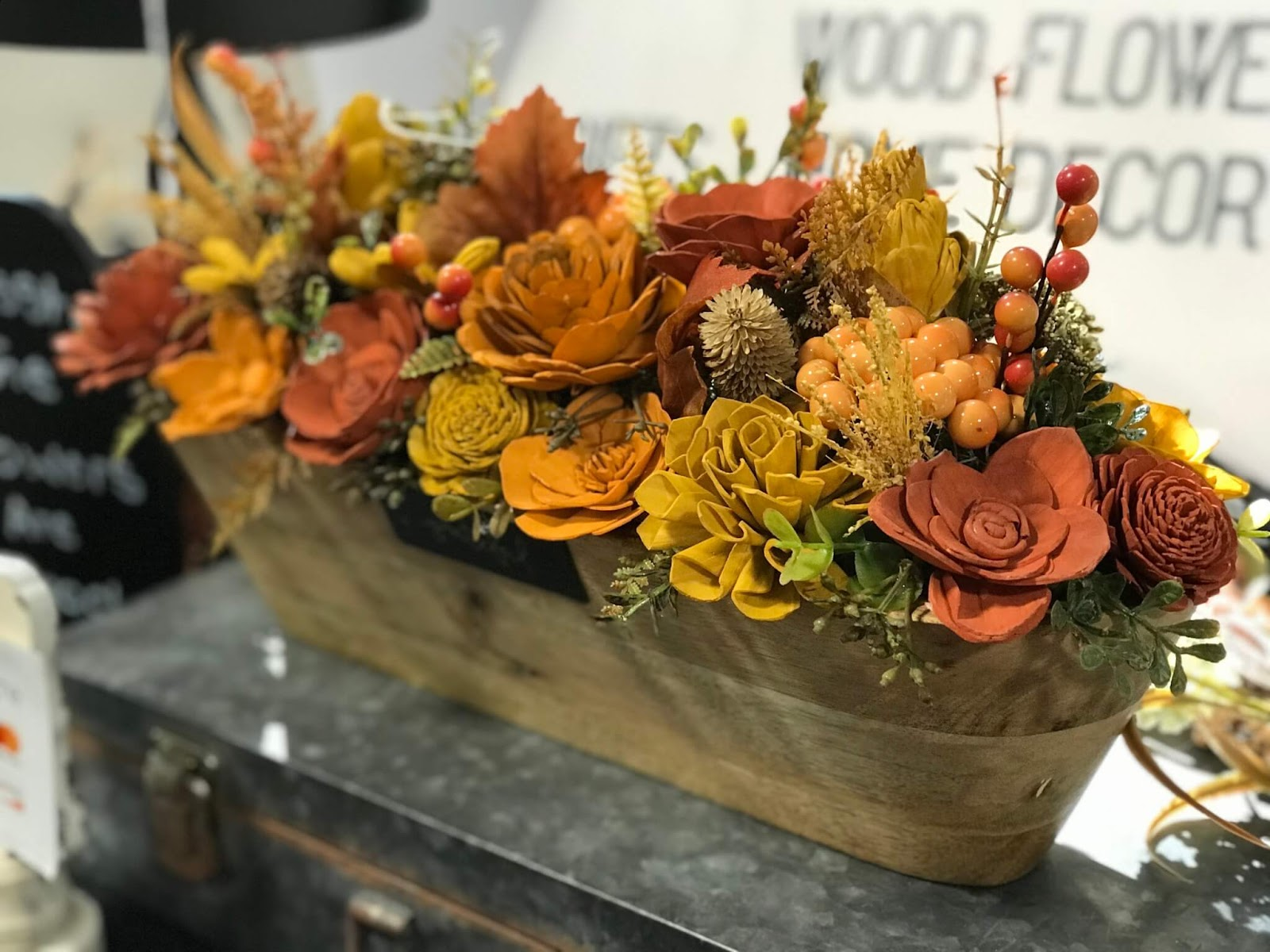 wooden flowers by 6m designs