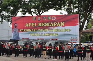 Pemerintah Provinsi Lampung dukung pelaksanaan Kegiatan Vaksinasi Covid-19 Keliling yang digelar Polda Lampung