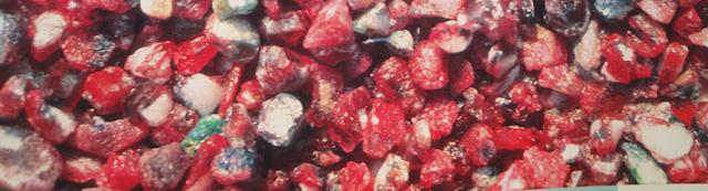 Raw ruby stone