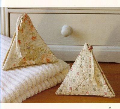 monederos, bolsos,tetraedros,icosaedros,dodecagonos, costura, labores