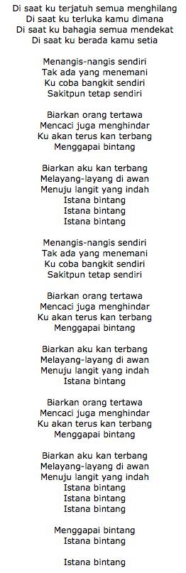 Lirik Lagu Istana Bintang Setia Band