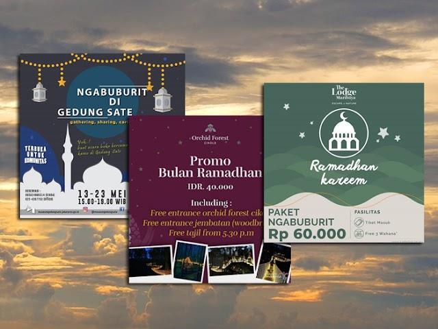 HTM Paket Ngabuburit Tempat-Tempat Wisata di Bandung Bulan Ramadan 2019
