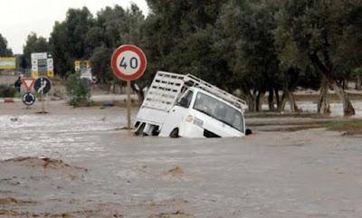 أمطار طوفانية ليلة أمس الجمعة تغرق مدينة وتتسبب في خسائر مادية كبيرة