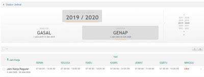 Cara Set Jam Kerja GTK Di SIMPATIKA Semester Genap Tahun Pelajaran 2019/2020