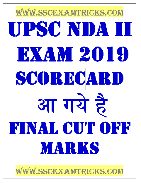 UPSC NDA II Scorecard