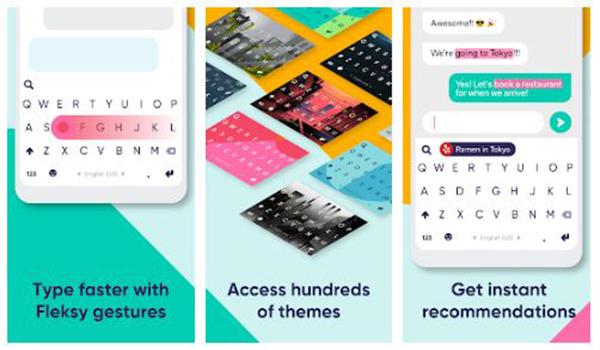 تطبيق لوحة المفاتيح Fleksy  - مجاناً  - بحرية درويد