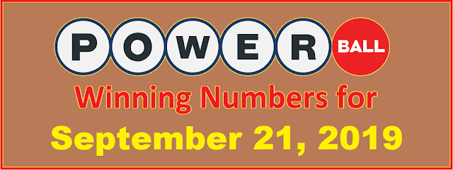 PowerBall Winning Numbers for Saturday, September 21, 2019